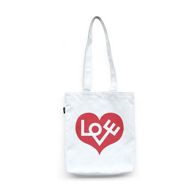 Graphic Love Heart 愛心提袋(紅)
